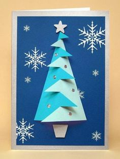 This holiday season hand out these DIY Christmas Cards to your loved ones and tell them how much you care. These Handmade Christmas cards are easy & cheap. 3d Christmas Tree Card, Christmas Card Template, Noel Christmas, Xmas Cards, Greeting Cards, Christmas Couple, Christmas Paper, Diy Cards, Kids Crafts