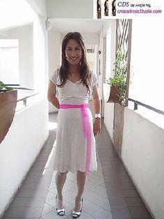 crossdresser wedding gown