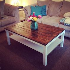 IKEA LACK Coffee Table, Planked Top