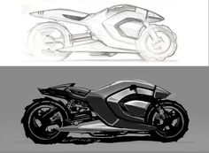 Concept Motorcycle - Concept Sketch Artwork by unknown artist