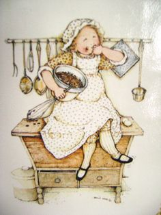 Vintage Holly Hobbie Recipe File Book  New Old Gold by junquegypsy, $9.20