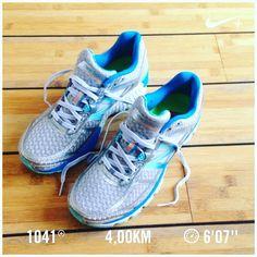 Klein rondje om de nieuwe schoenen te testen. Zitten heerlijk maar is dat goed genoeg om zondag gelijk de halve marathon mee lopen. Dilemma's dilemma's. Iemand van mijn instagramhardloophelden zoals @meesterdriessen advies? #dtv #run #nevernotrunning #running #hardlopen #nikeplus #newshoes #newbalance #halvemarathon #halvemarathonleiden by lbakdijk