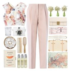 """""""business trip"""" by serendipityagain ❤ liked on Polyvore featuring Lomography, Rebecca Taylor, Giambattista Valli, Kate Spade, Globe-Trotter, Schott Zwiesel, Philip Kingsley, Le Labo and Chloé"""