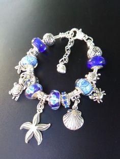 Blue Sea European Charm Bracelet,Holiday Sale