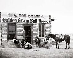 The Bob Saloon, Miles City, Montana .. 1880s