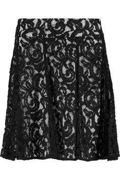 MICHAEL MICHAEL KORS Corded lace mini skirt. #michaelmichaelkors #cloth #skirt