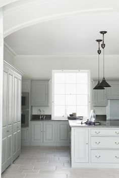 Nice lights. The New Victorian Ruralist: Plain English: The Way A Kitchen Should Be Treated