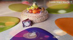 Little Yoga World - ovale Kinderyogamatten ♡