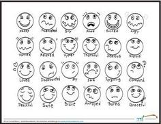 Feeling faces printable coloring sheet  | Kristina Sargent