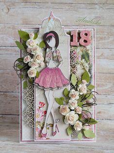 18th Birthday Cards, Teenagers, Stamp, Scrapbook, Dolls, How To Make, Kids, Handmade, Fashion