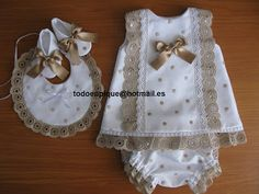 TODO EN PIQUE para bebe Sewing For Kids, Baby Sewing, Toddler Outfits, Kids Outfits, Bebe 1 An, Baby Doll Clothes, Heirloom Sewing, Baby Boutique, Little Girl Dresses