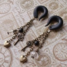 Size: 00g   Charisma Gauged earrings by TheCreatorsCreations on Etsy, $28.00