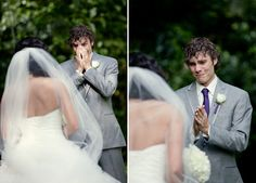 Seeing the bride for the first time