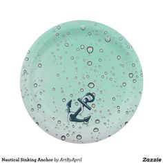 Nautical Sinking Anchor Paper Plate  sc 1 st  Pinterest & Nautical Baby Shower Red Anchor Paper Plate 7 Inch Paper Plate ...