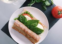 A Caprese Sandwich To Bring Out Your Inner Frenchie | Easy and Healthy Recipe Inspired from French Cuisine, see full recipe at http://homemaderecipes.com/caprese-sandwich/
