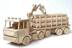 Spielzeug LKW mit Anhanger