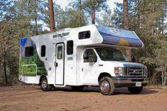 Beautiful motorhome for your camping trip Motorhome Rentals, Rv Rental, Cruise America, Trailer Storage, Camper Storage, Diy Camper, Storage Hacks, Camper Ideas, Rent Rv