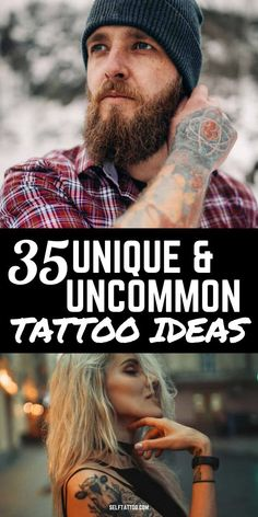 35 Unique and Uncommon Tattoos | Body Art - Are you struggling to decide on a tattoo design? With so many choices out there, it can be overwhelming! Click here for 35 unique and uncommon tattoos that can help narrow down your search. Self Tattoo | Tattoo Ideas | Tattoo Designs | Tattoo Ideas for Female | Tattoo Ideas for Men | Tattoo Ideas Small | Unique Tattoos | Unique Minimalist Tattoos | Tattoos for Women | Tattoos for Guys #tattoos #bodytattoos #design Meaningful Tattoos For Men, Unique Tattoos For Women, Unique Small Tattoo, Small Tattoos For Guys, Cute Small Tattoos, Small Tattoo Designs, Tattoo Designs Men, Minimalist Tattoo Meaning, Minimalist Tattoos