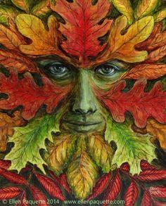 Autumn green man
