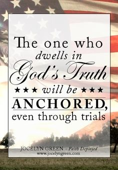 God's truth will anchor you