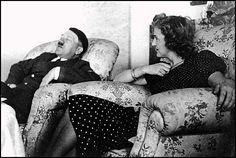 Eva Braun with Hitler.