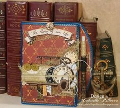 Heritage Style Altered Notebook {Bo Bunny}
