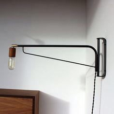"""D - bedside light - Fab.com   Otis Light 24"""" Black Teak"""