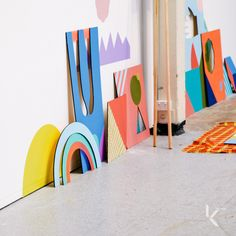"""Koskela Gallery hosts Beci Orpin's """"Colour Assembly I"""" show, part of Art and About Sydney 2013."""