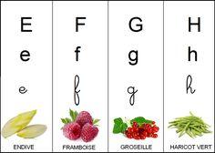 image abécédaire fruits et légumes