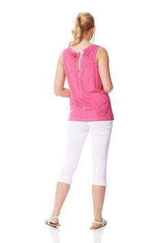 Ladies Roman Originals Women Tropical Tie Front Button Down Blouse