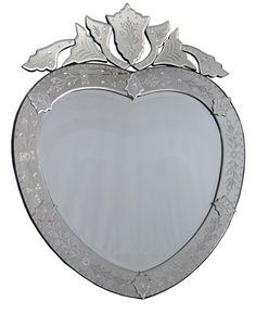 Espelho Coração Veneziano