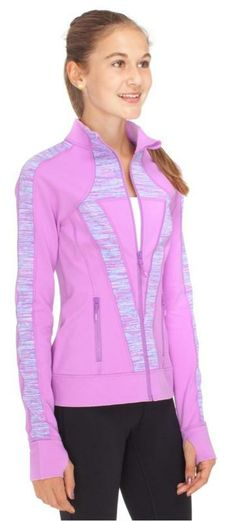 warm up in this sweat-wicking jacket great for the field, court, or studio | Perfect Your Practice Jacket