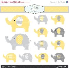 ON SALE elephant clip art  Digital clip art cute by petittatti