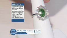 The Most Exquisite Jewelry Experience On TV - Colored Gemstones, Diamonds and So Much More! Garnet And Diamond Ring, Garnet Rings, Garnet Gemstone, Blue Sapphire Necklace, Emerald Green Earrings, Diamond Bracelets, Diamond Earrings, Ruby Rings, White Gold Rings