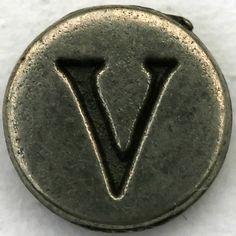V from Victor !!! Pewter Letter V by Leo Reynolds, via Flickr