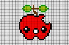Apple Pixel Art from BrikBook.com #Apple #fruit #delicious #healthy #applefruit…