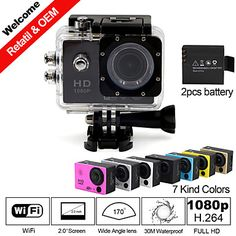 Besteye+SDV-105+Sports+Camera+2+12MP+640+x+480+/+1920+x+1080+CMOS+32+GB+H.264English+/+Italian+/+French+/+Portuguese+/+Chinese+/+Russian+–+EUR+€+68.59