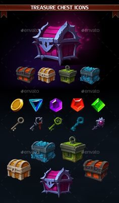 Treasure Chest Icons (Miscellaneous)