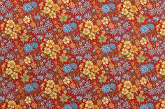 Cotton Quilting Fabric Cotton Floral Fabric Red Fabric Red www.thefabricscore.etsy.com #sewing #quilting #fabric #crafts #diy