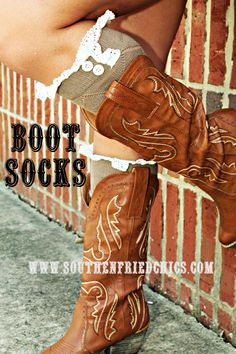 Taupe Boot Socks $29.99! #SouthernFriedChics