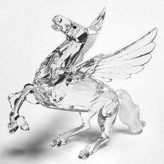 Swarovski Pegasus 1998 SCS Annual Limited Edition by Swarovski Crystals Swarovski Ornaments, Swarovski Crystal Figurines, Swarovski Crystals, Glass Figurines, Collectible Figurines, Flint Glass, Cryptozoology, Crystal Decor, Glass Animals