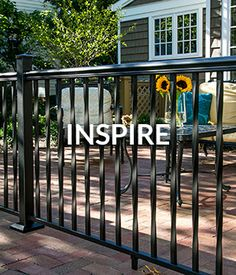 Inspire Decorative Fence Panels, Metal Fence Panels, Vinyl Panels, Garden Fence Panels, Deck Stair Railing, Front Porch Railings, Vinyl Fence Colors, Aluminum Decking, Fence Styles