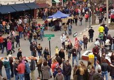 Happy crowds in downtown Saratoga Springs.  Saratoga is the fastest growing county in the Capital Region.