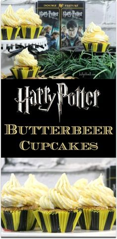 In the Wizarding World of Harry Potter, they serve up a delicious drink called Butter Beer.  If you've tasted Butter Beer, you know how wonderful that flavor will be in a cupcake!