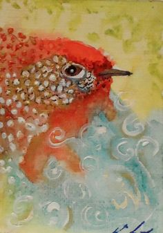 Abstract Bird Paintings Abstract Bird Painting