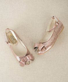 Love this Pink Sparkle Lyra Peep-Toe Flat & Pink Crystal Hair Clip - Kids on #zulily! #zulilyfinds