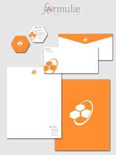 I think that this set of stationery is really cool. I like the different shape of the business card a lot! And I also think that though the stationery is not all the same content, the color and logo are carried throughout the stationery, which is effective and memorable.