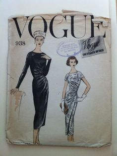 Vintage Sewing Pattern Vogue Couturier Design # 938 Size 14