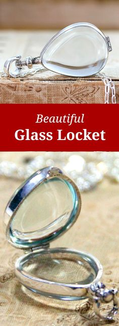 Beautiful Glass Locket - What would you put inside?