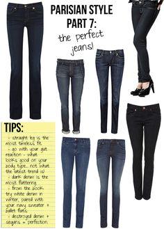 Parisian Style, Part 7: The Perfect Jeans | Stripes & Sequins